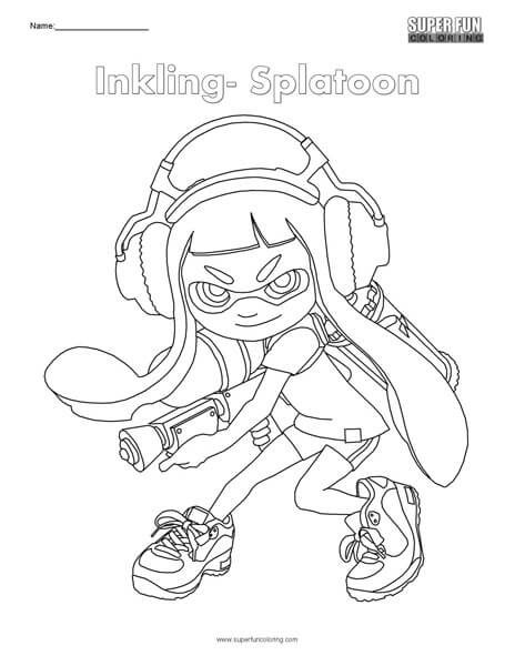 Splatoon 2 Marina Drawing Process With Free Coloring Page encequiconcerne Coloriage Splatoon