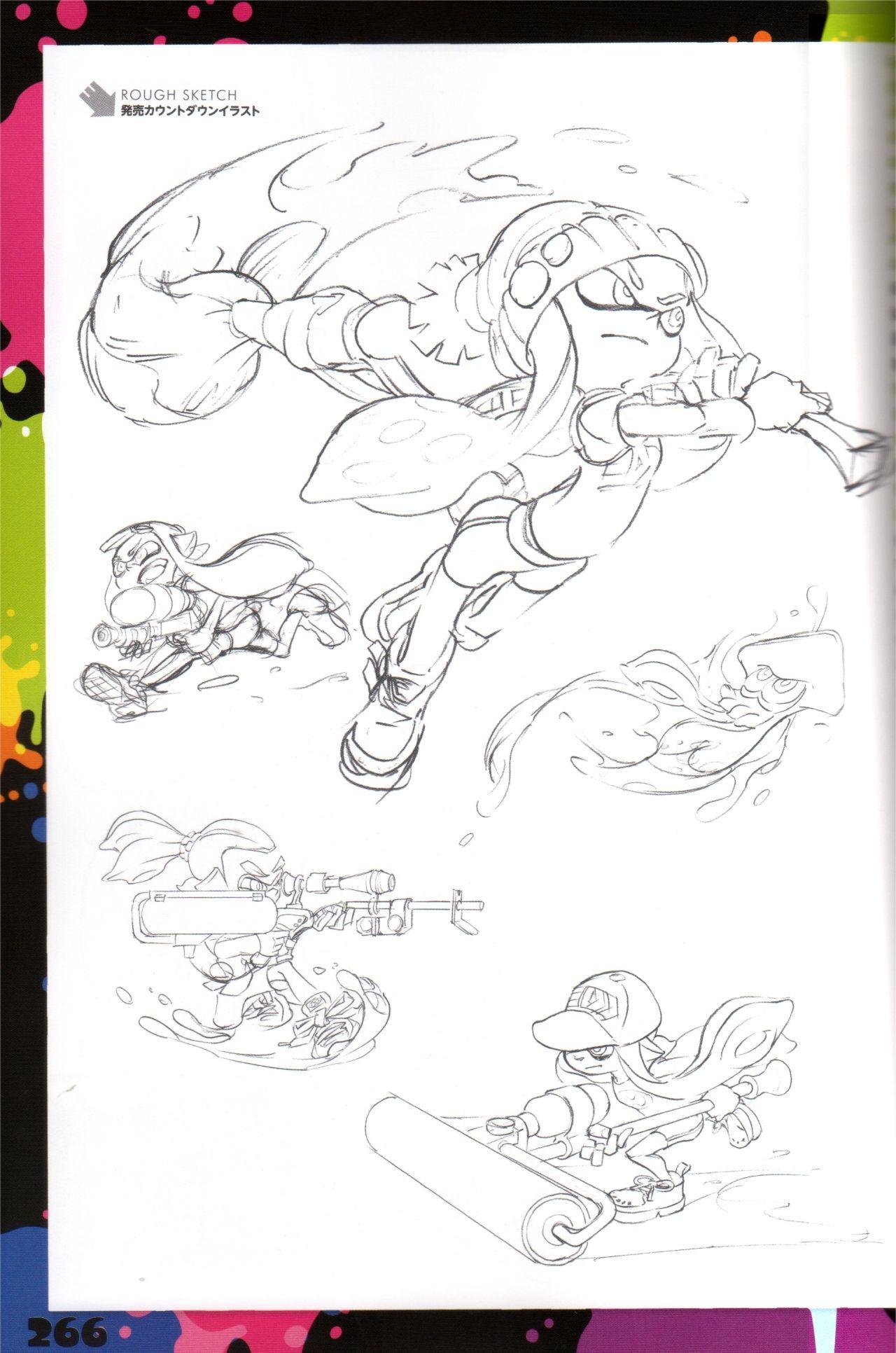 Splatoon Ikasu Artbook   Idées Esquisses, Coloriage, Dessin destiné Coloriage Splatoon