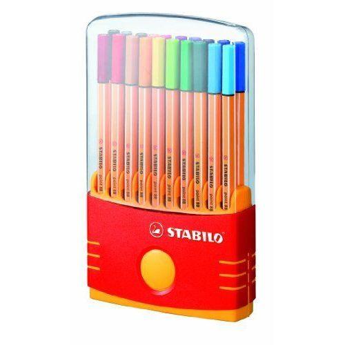 Stabilo Color Parade Pointe 88 Boîte Rigide De 20 Feutres concernant Boite De Feutres Coloriage