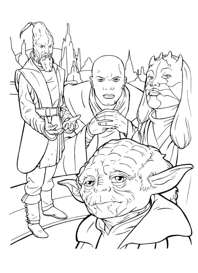 Star Wars Coloring Pages   Free Printable Coloring Page intérieur Dessin A Colorier Star Wars Gratuit