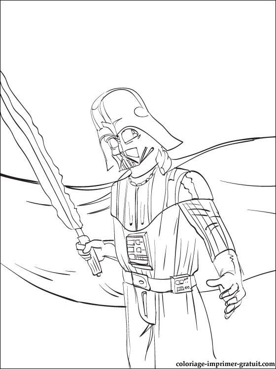 Star Wars Dark Vador A Imprimer | Coloriage À Imprimer Gratuit avec Coloriage Star Wars Dark Vador