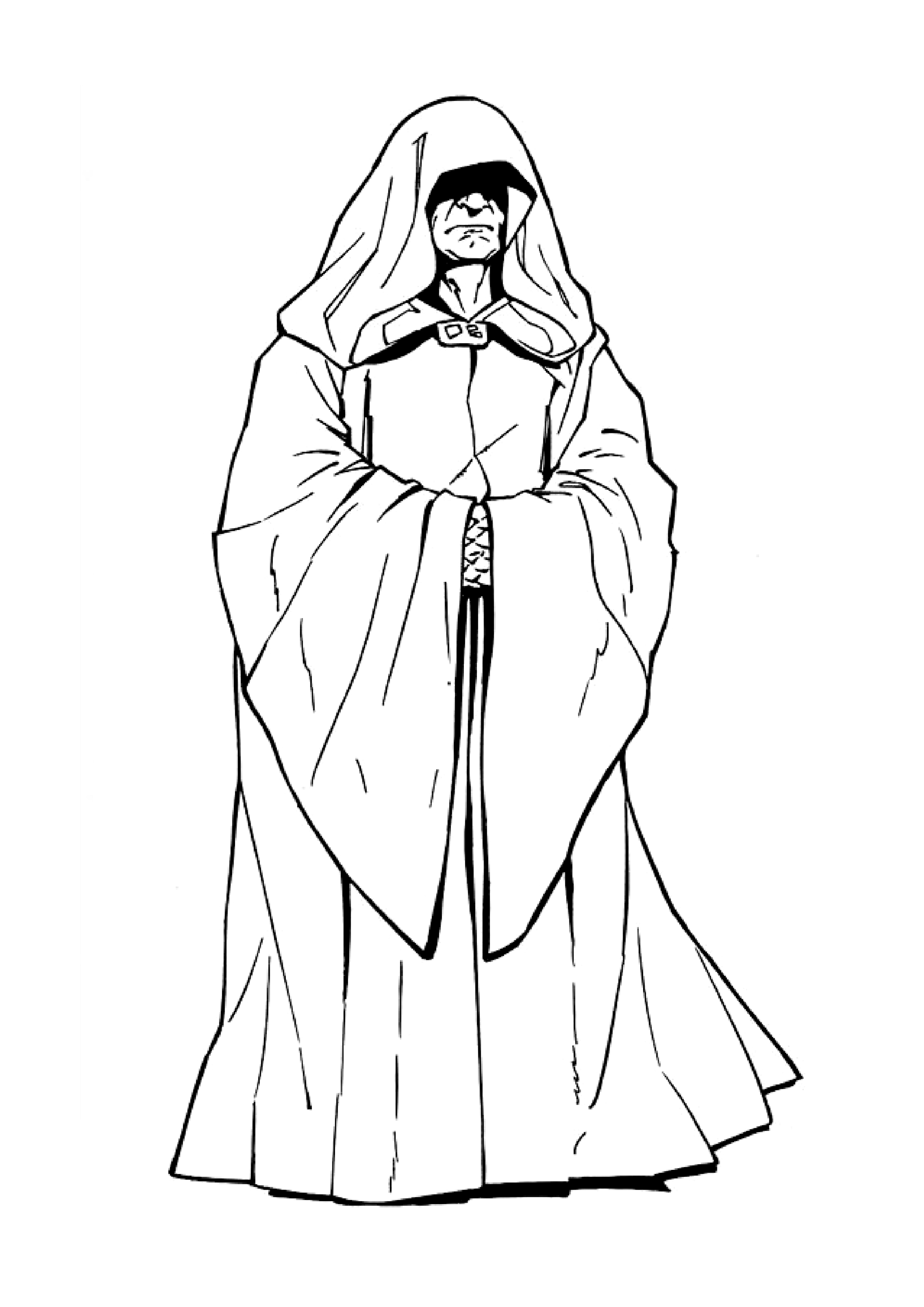 Star Wars Empereur Palpatine 1 - Coloriage Star Wars pour Star Wars A Colorier