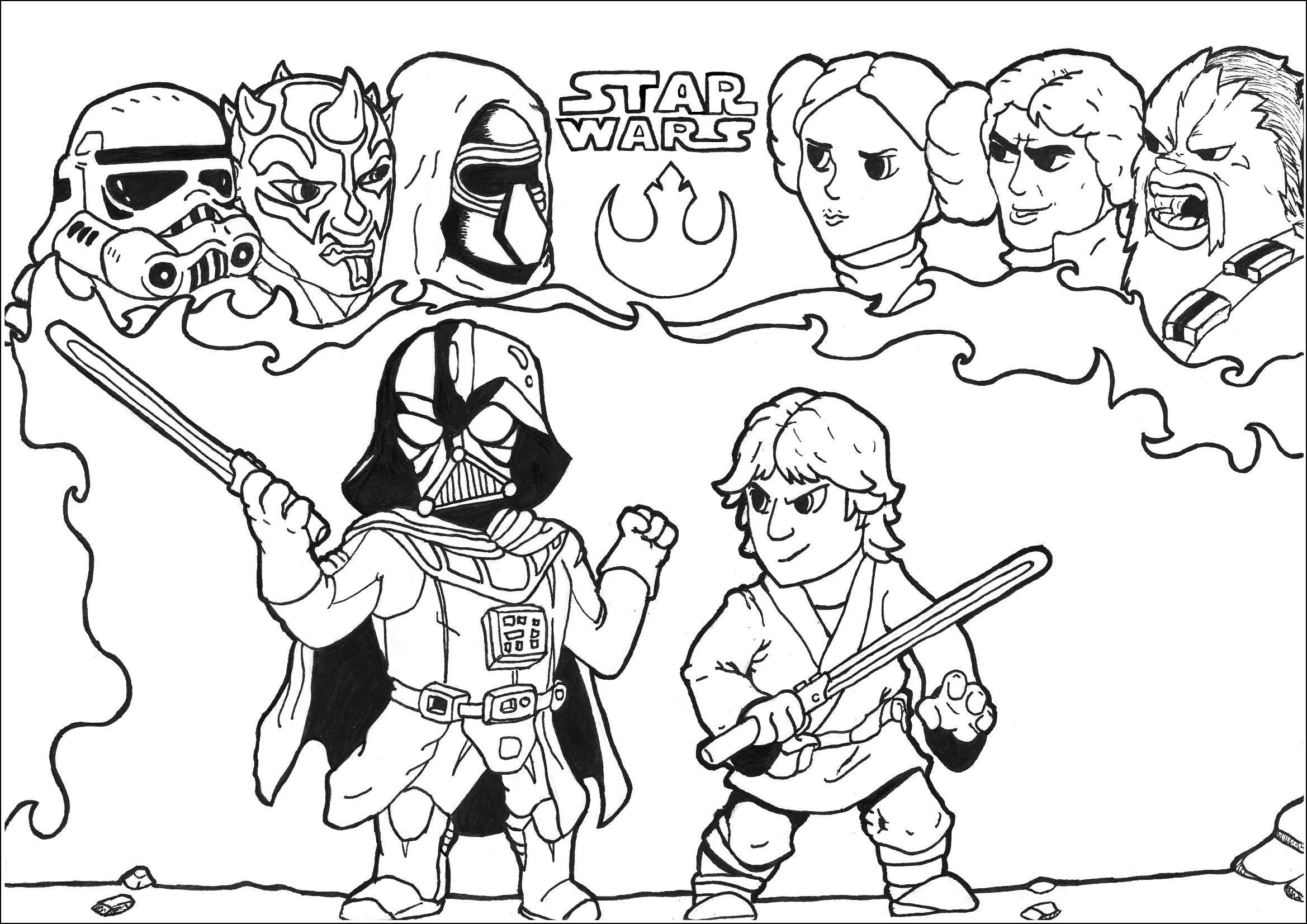 Star Wars Free To Color For Kids - Star Wars Kids Coloring intérieur Dessin A Colorier Star Wars Gratuit