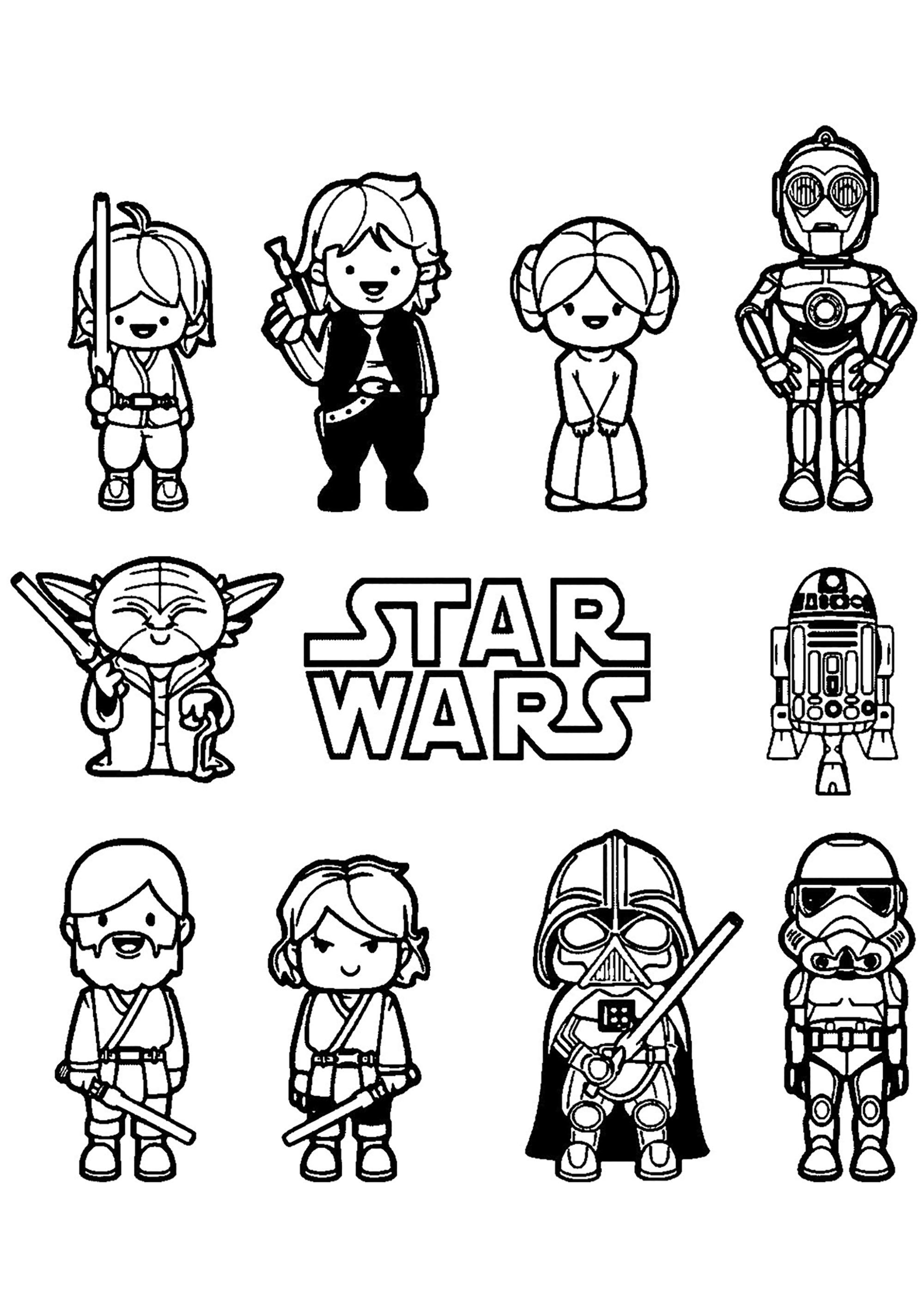 Star Wars Free To Color For Kids - Star Wars Kids Coloring intérieur Star Wars Dessin À Colorier