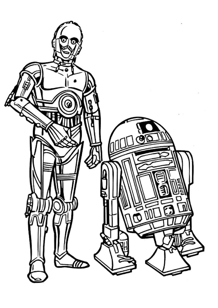 Star Wars Line Art Clipart - Free To Use Clip Art Resource à Star Wars Dessin A Imprimer