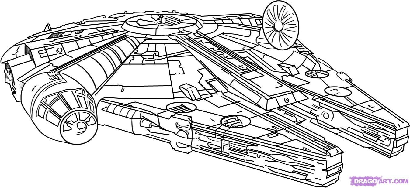 Star Wars Ships Drawings |  Done With The Drawing You à Vaisseau Star Wars Coloriage