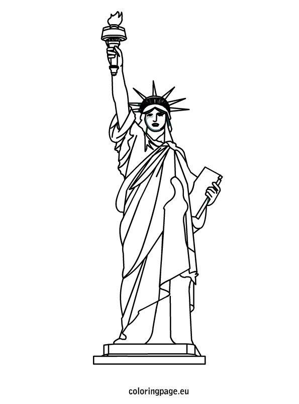 Statue Of Liberty Coloring Sheet | Desenhos, Estampas, Artes avec Statue De La Liberté Dessin