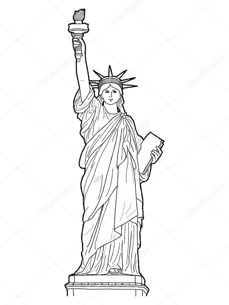 Statut De La Liberté — Photographie Lechieng.k.gmail à Statue De La Liberté Dessin