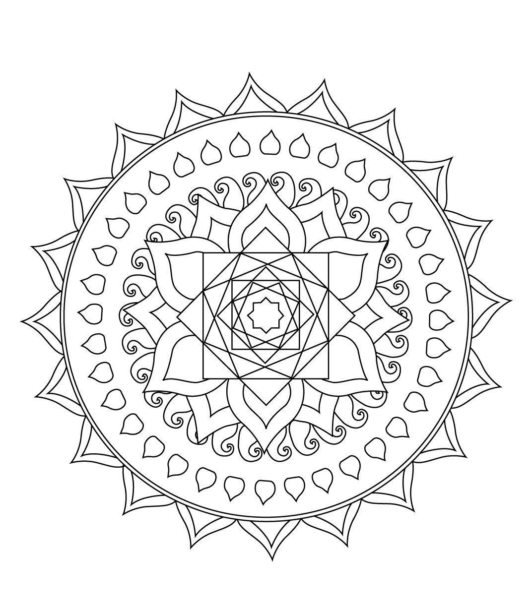 Stci, Coloriage Pour Adultes Et Enfants Mandalas avec Coloriage Mandala Adulte A Imprimer