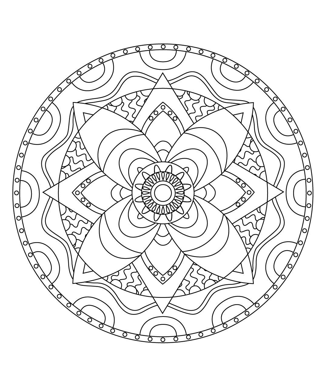 Stci, Coloriage Pour Adultes Et Enfants Mandalas destiné Mandala Coloriage