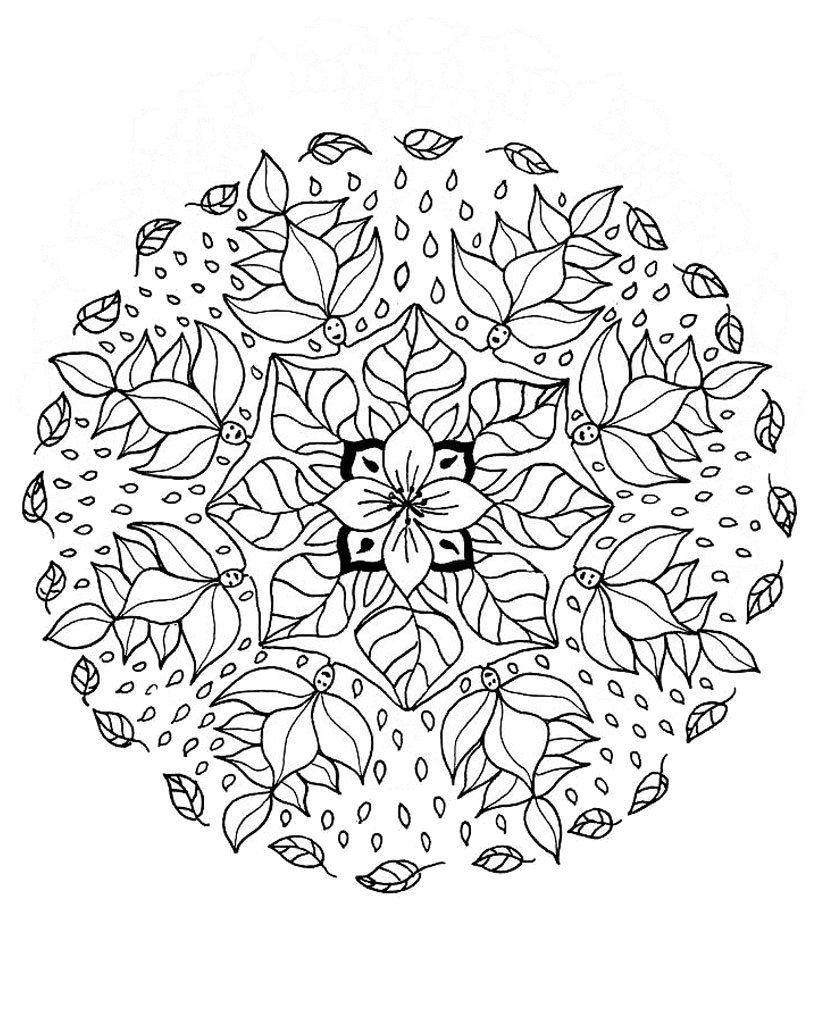 Stci, Coloriage Pour Adultes Et Enfants Mandalas | Mandala tout Coloriage Mandala A Imprimer