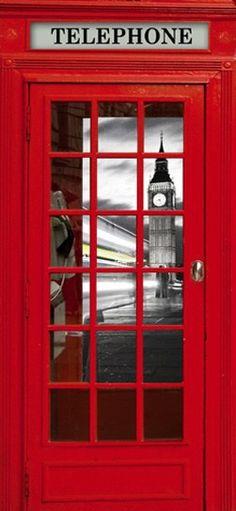 Sticker Cabine Téléphone - Londres | Chambre Fille En 2018 à Dessin Cabine Téléphonique Anglaise