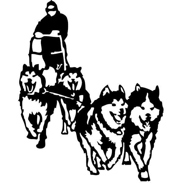 Sticker Chiens De Traineau Husky - Animaux/Chien - Destock destiné Dessin Chien De Traineau