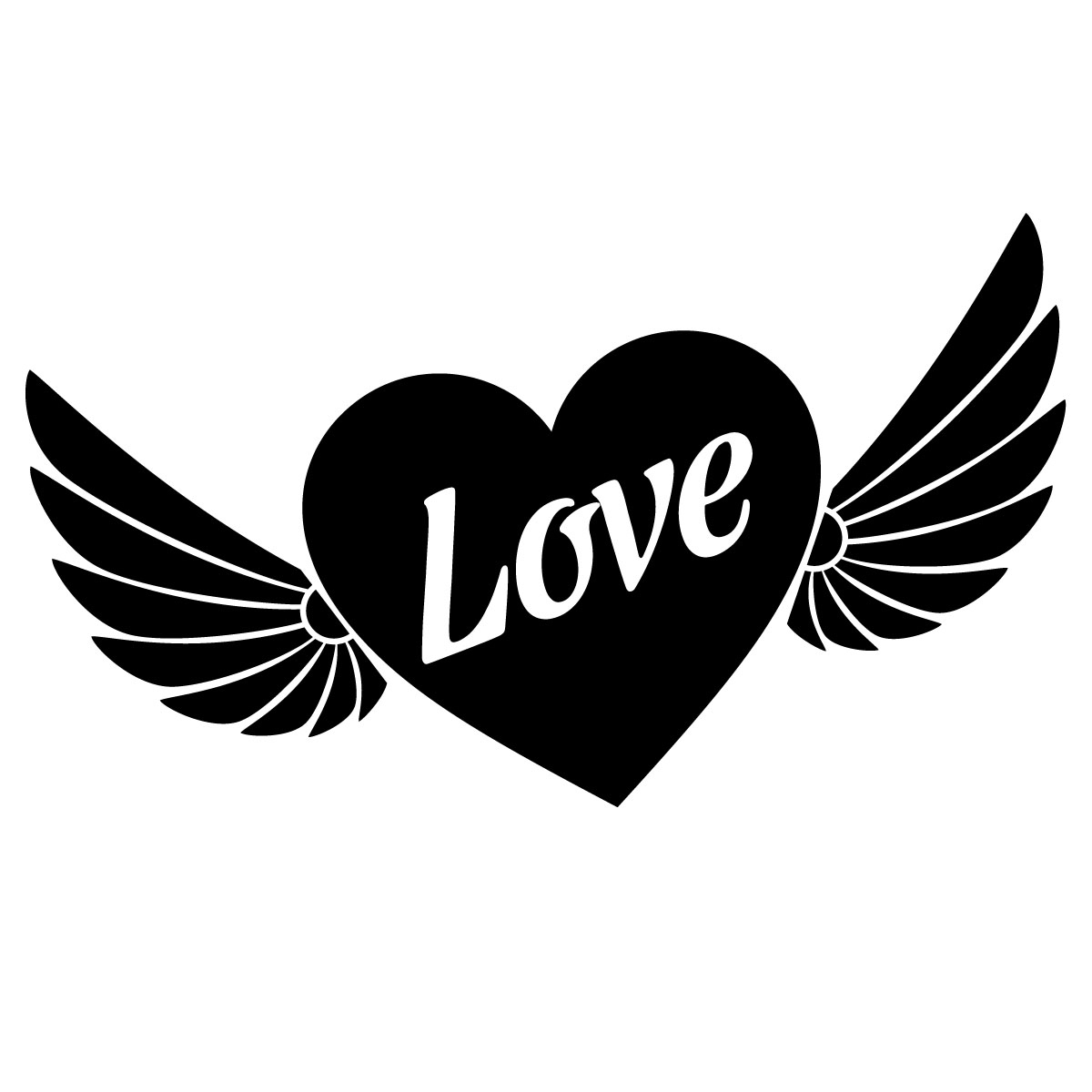 Sticker Coeur Avec Ailes - Stickers Stickers Fêtes intérieur Dessin De Nounours Avec Un Coeur