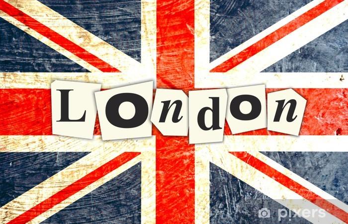 Sticker Drapeau Anglais Londres • Pixers® - Nous Vivons à Drapeau Anglais A Imprimer Gratuit