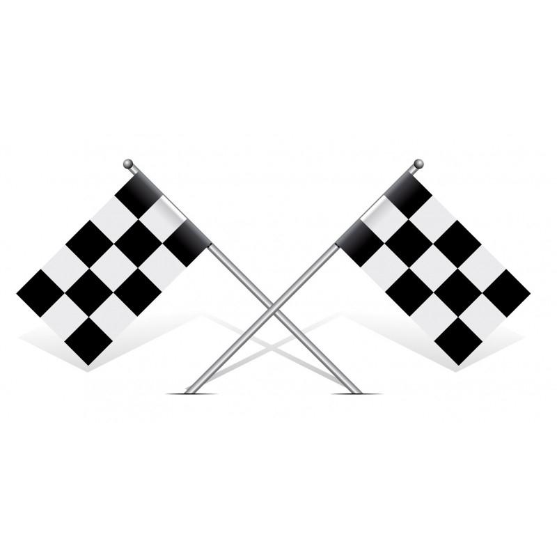 Sticker Drapeau Damier Noir Et Blanc Univers Automobile À encequiconcerne Damier À Imprimer