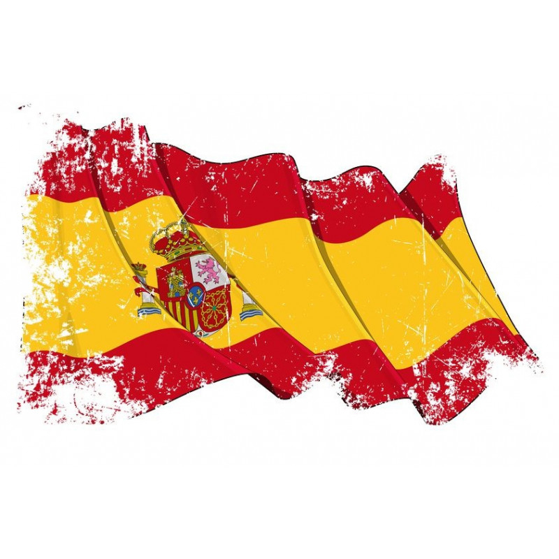 Sticker Espagne - Symbole Pays Etiquette & Autocollant avec Drapeau Espagnol A Imprimer