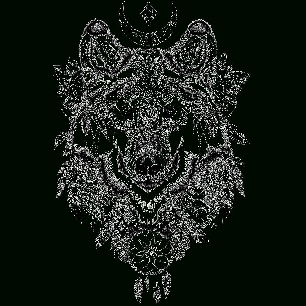 Sticker Ethnique Tête De Loup – Stickers Stickers Art Et intérieur Tete De Loup Dessin