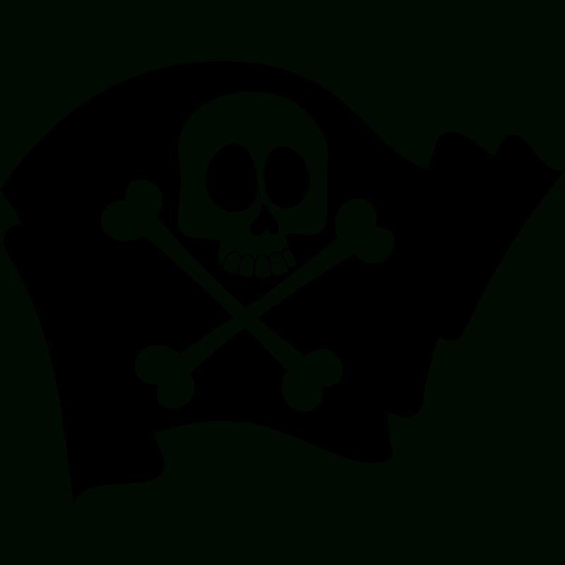 Sticker Pirate Drapeau Avec La Tête De Mort – Stickers avec Fabriquer Un Drapeau De Pirate