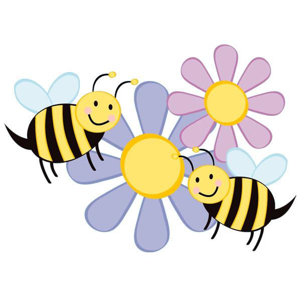 Stickers Fleurs Abeilles - Des Prix 50% Moins Cher Qu'En tout Image Abeille A Imprimer