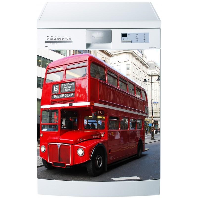 Stickers Lave Vaisselle Ou Magnet Lave Vaisselle Bus concernant Image Bus Anglais