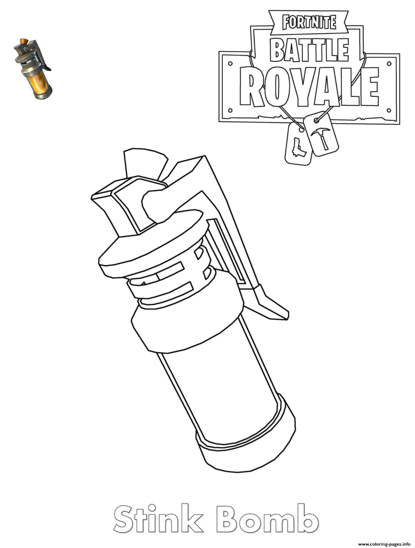 Stink Bomb Fortnite Item Coloring Pages Printable concernant Coloriage De Fortnite