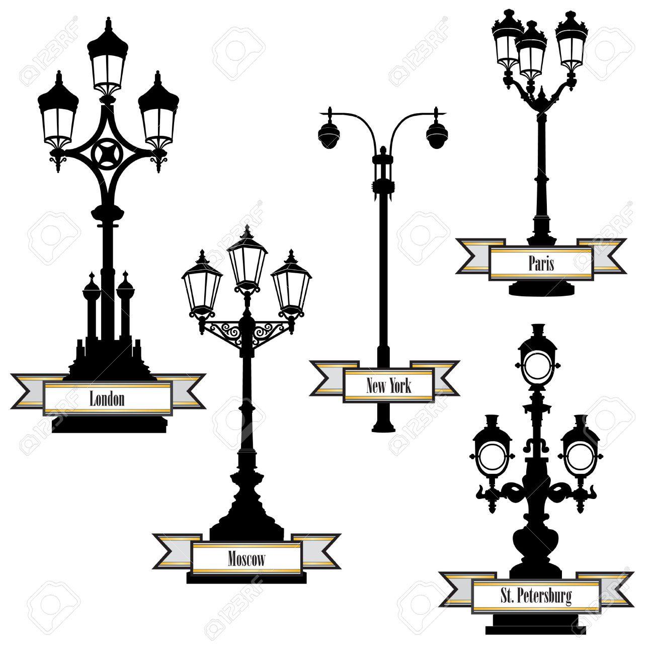 Stock Photo | Lampadaire, Dessin Et Ville Dessin avec Coloriage Lampe