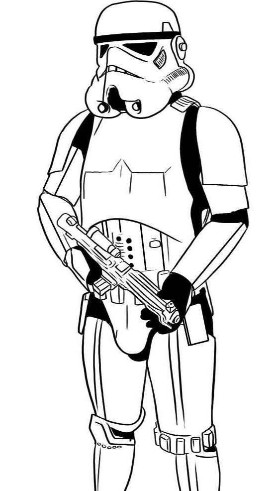 Stormtrooper Coloring Page | Dessin, Dessin Robot, Coloriage concernant Star Wars Dessin A Colorier