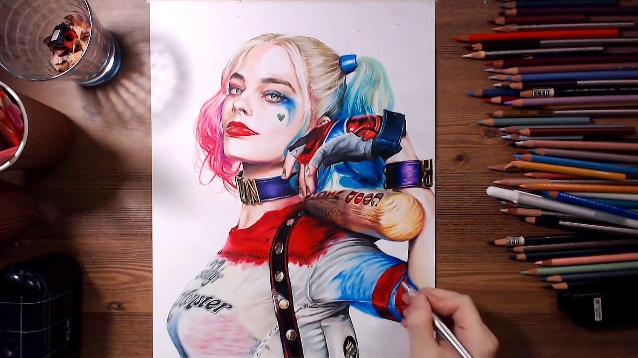 Suicide Squad : Harley Quinn (Margot Robbie) - Speed tout Coloriage Harley Quinn Suicid Squad