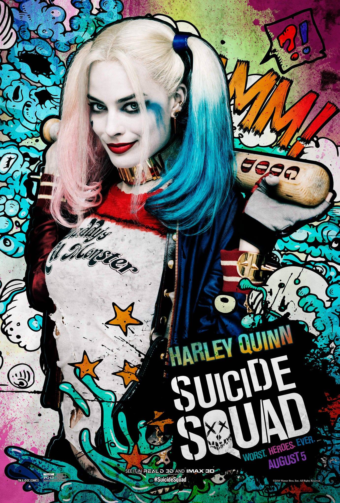 Suicide Squad: New Character Posters Are Just Plain Bad serapportantà Coloriage Harley Quinn Suicid Squad