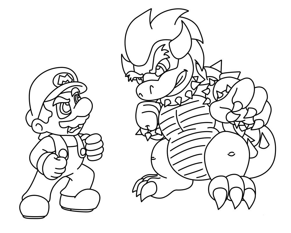 Super Mario Bros Coloring Pages tout Coloriage Mario Kart