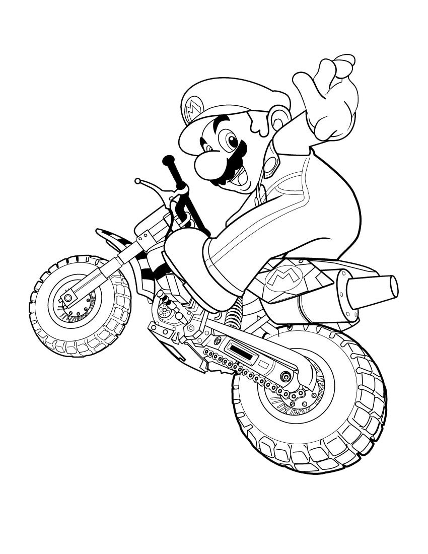 Super Mario Coloring Pages ~ Free Printable Coloring Pages à Coloriage