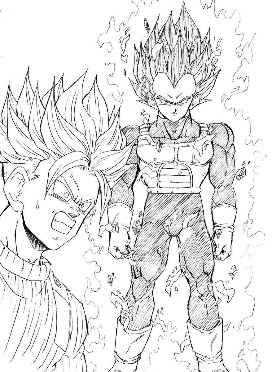 Super Saiyan 2 Gohan Kleurplaten Fan Art 01 Lineart Teen tout Coloriage Dragon Ball Z Super Saiyan A Imprimer