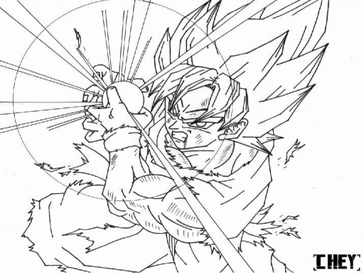 Super Saiyan Goku Coloring Pages | Dbz, Fan Art, Coloriage pour Coloriage Dragon Ball Z Super Saiyan A Imprimer
