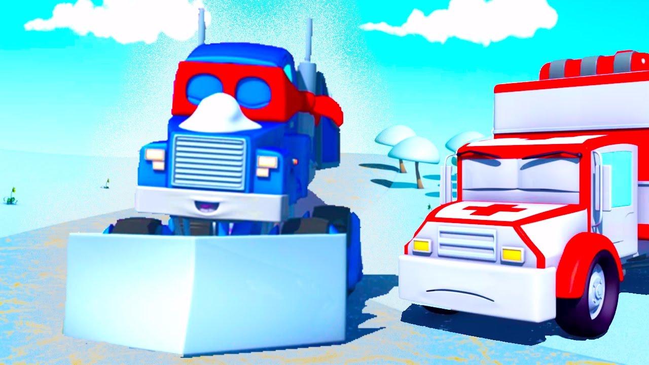 Super Truck 🚚 Et Le Chasse Neige ⛄ À Car City | Dessin tout Dessin Animé Lego City