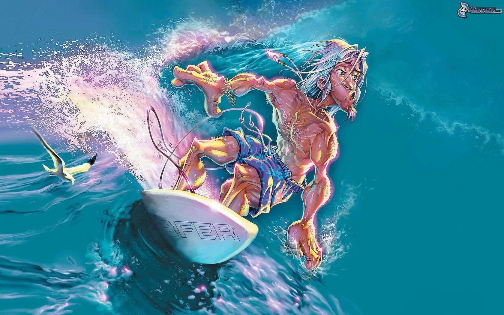 Surfeur concernant Dessin Surfeur