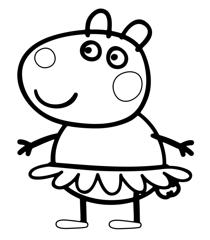 Suzy Sheep In Peppa Pig Coloring Page | Peppa Pig concernant Coloriage Peppa Pig