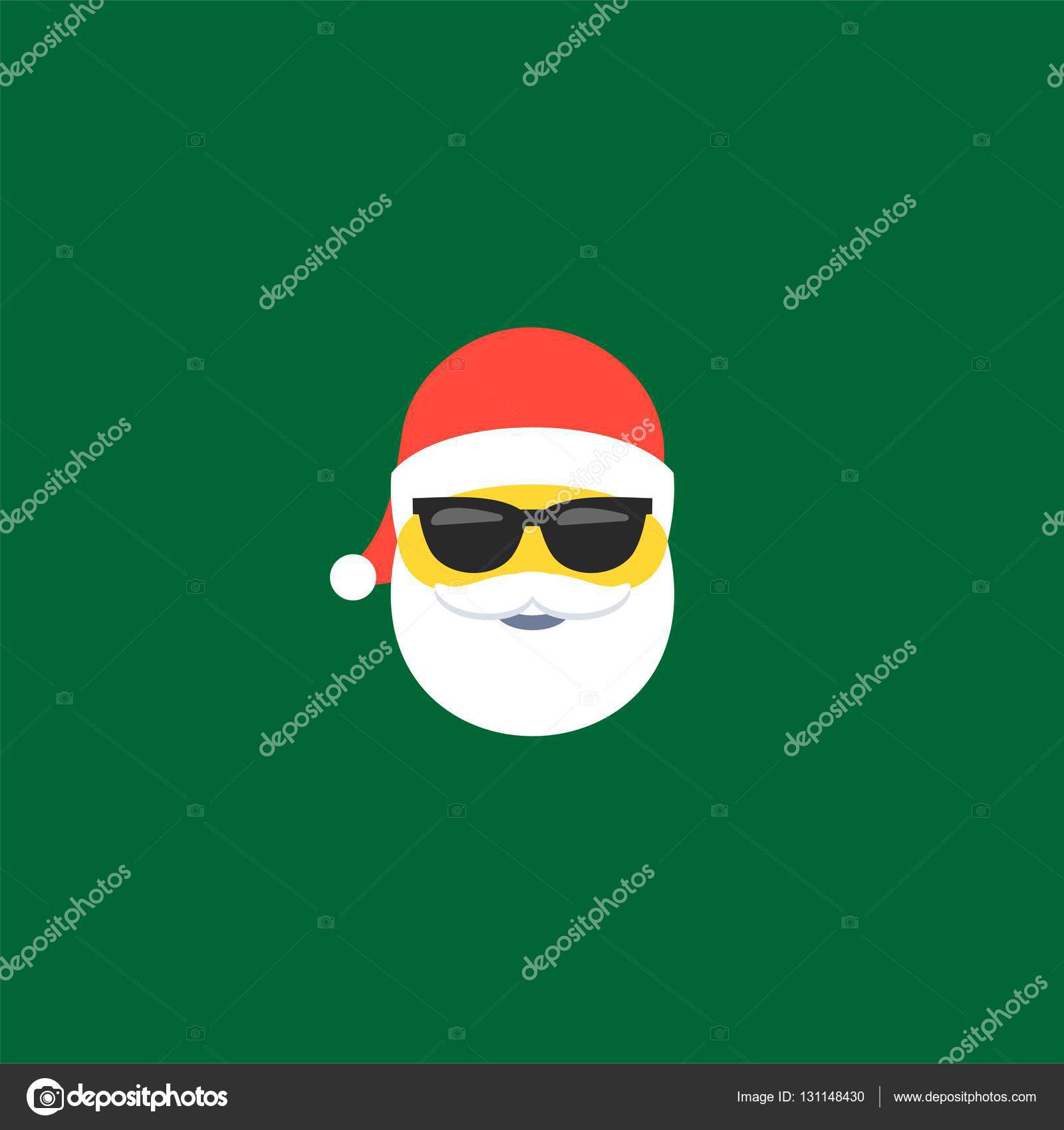 Symbole De Noël Père Noël Émoticônes Emoji — Image avec Symbole Noel