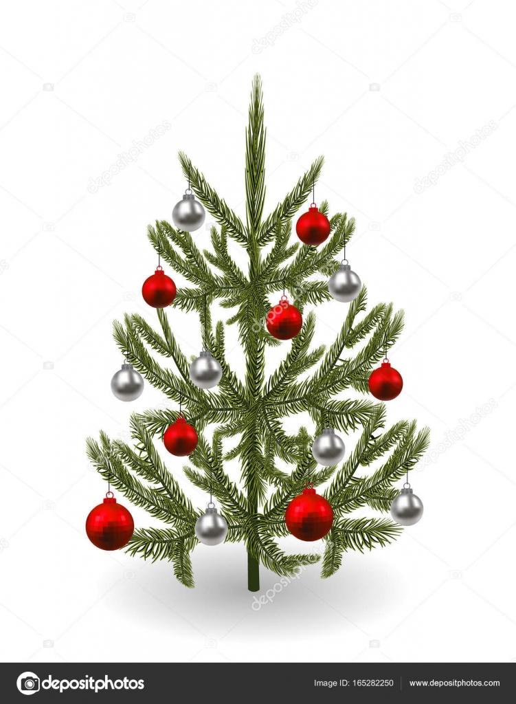 Symbole Du Nouvel An, Noël. Une Image D'une Belle Épinette à Symbole Noel