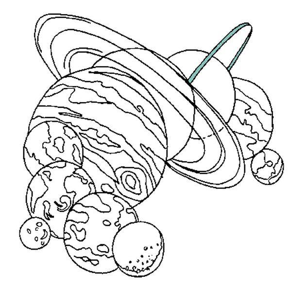 Système Solaire | Systeme Solaire, Planete Systeme Solaire à Systeme Solaire Dessin