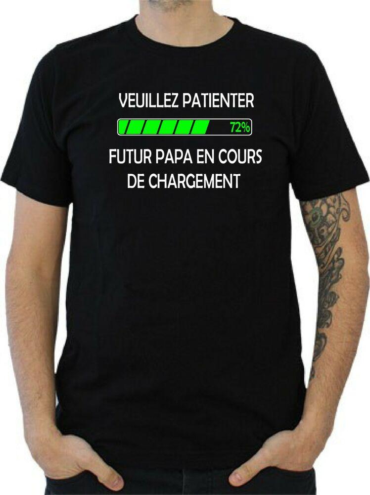 T-Shirt Homme Veuillez Patienter Futur Papa En Cours De concernant Calimero Liedje T?L?Chargement