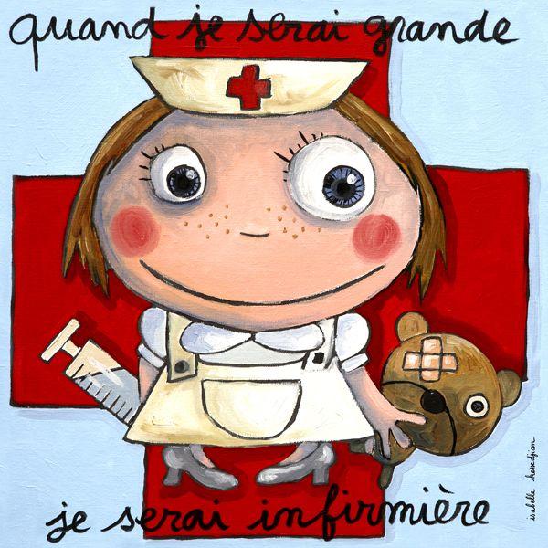 Tableau Infirmière Isabelle Kessedjian | Dessin Infirmière pour Dessin Humoristique Infirmière