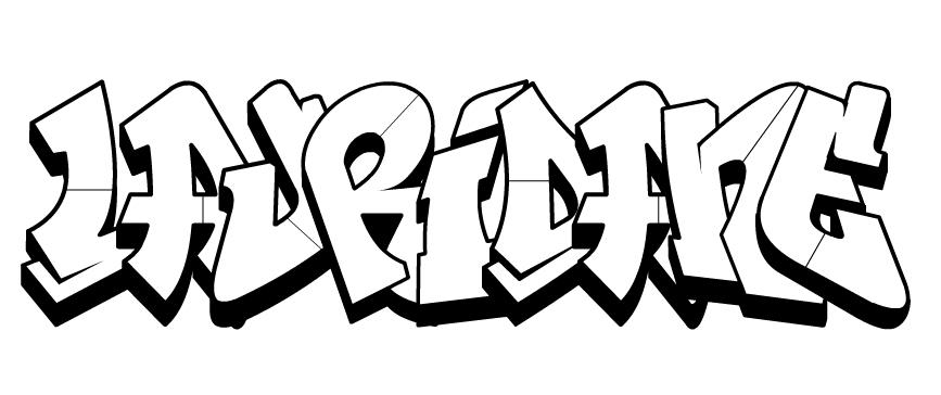 Tag À Colorier (Prénom, Phrase) serapportantà Coloriage Tag Graffiti