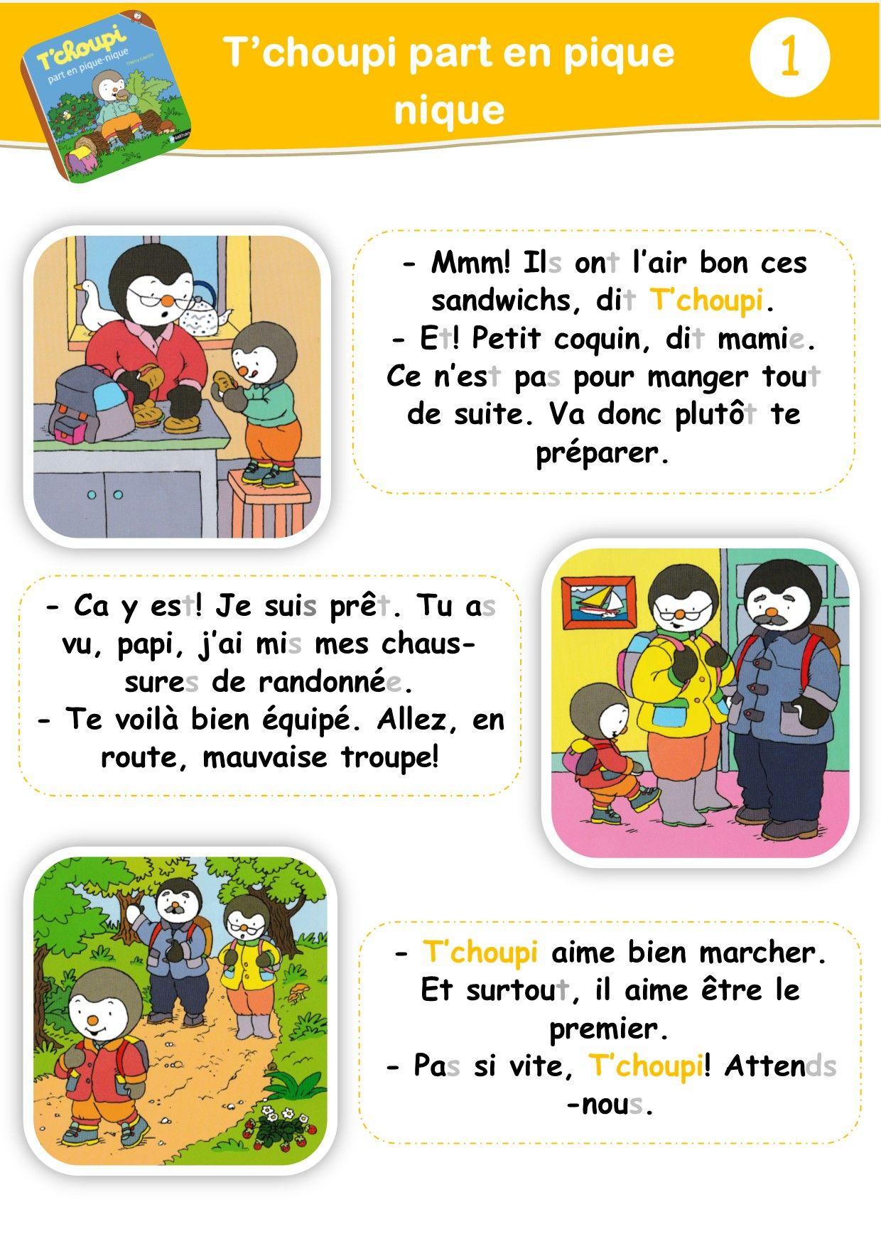 Tapuscrit De T'Choupi | Apprendre Le Français, Programme avec Lecture Suivie Petit Ogre Veut Apprendre ? Lire