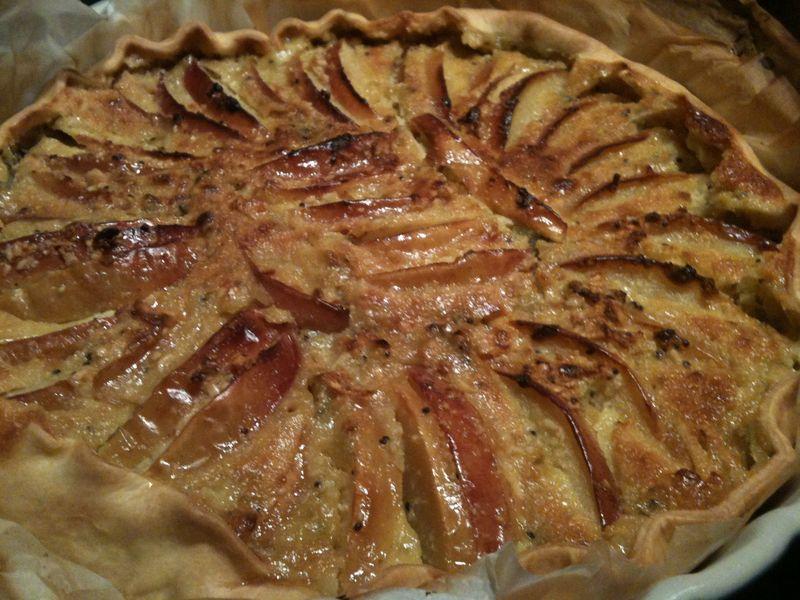 Tarte Aux Pommes Et À La Crème Amande/Kiwi - Laurette Cuisine à Tarte Pomme Banane Kiwi