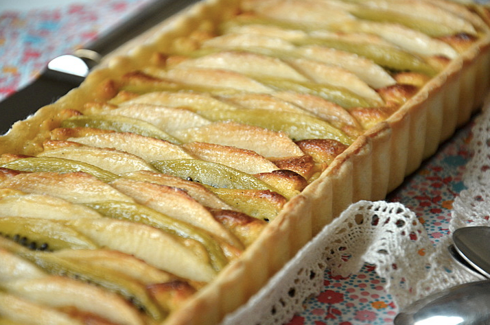 Tarte Pommes - Kiwi Photo : Les Recettes De Juliette tout Tarte Pomme Banane Kiwi