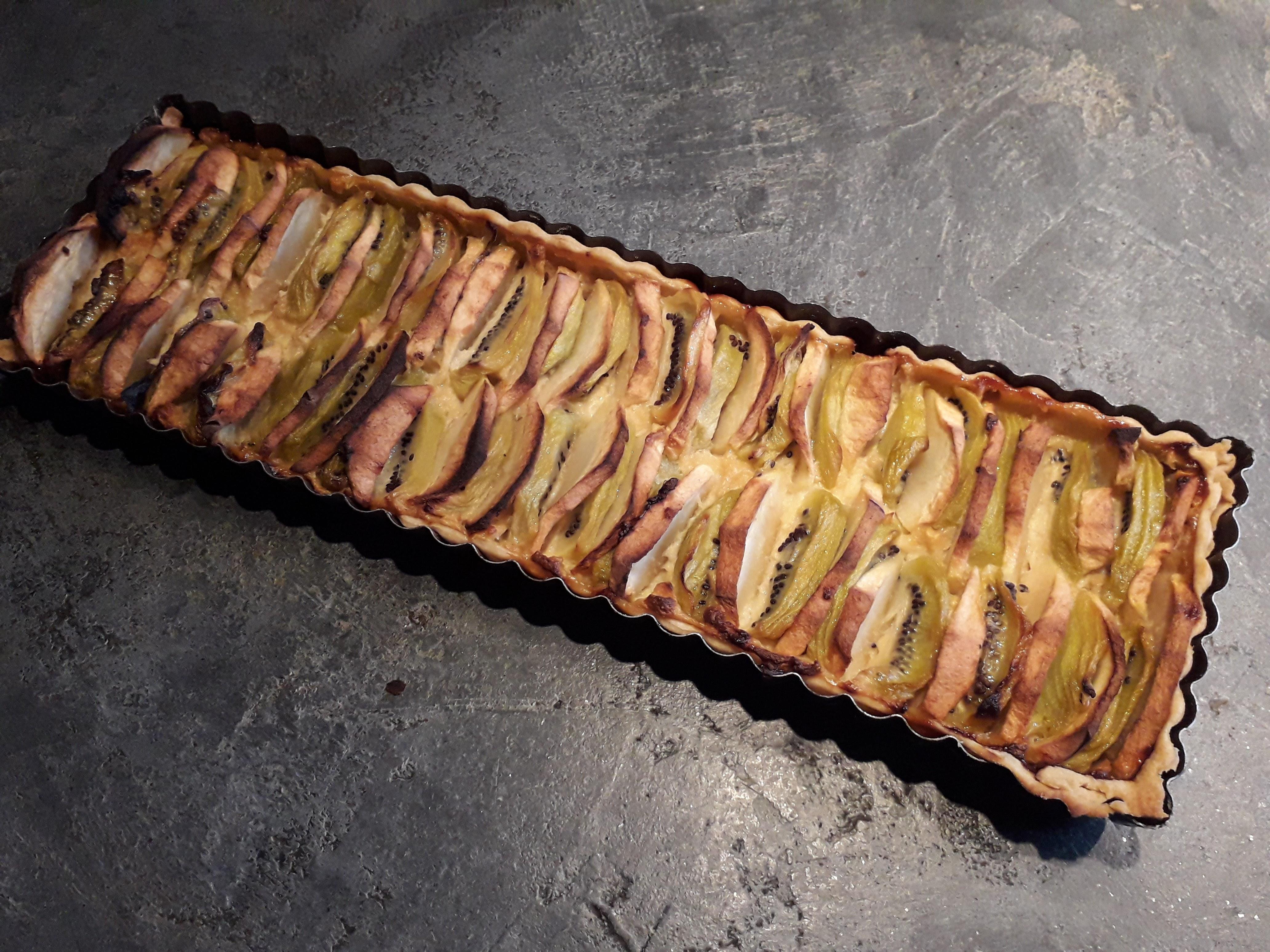 Tarte Pommes Kiwis | Cooking Chef De Kenwood - Espace Recettes pour Tarte Pomme Banane Kiwi