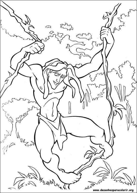 Tarzan Para Colorir concernant Dessin De Tarzan