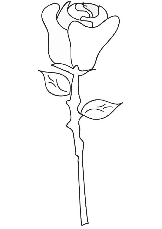 Téléchargez Ou Imprimez Cette Incroyable Coloriage avec Coloriage D Une Rose
