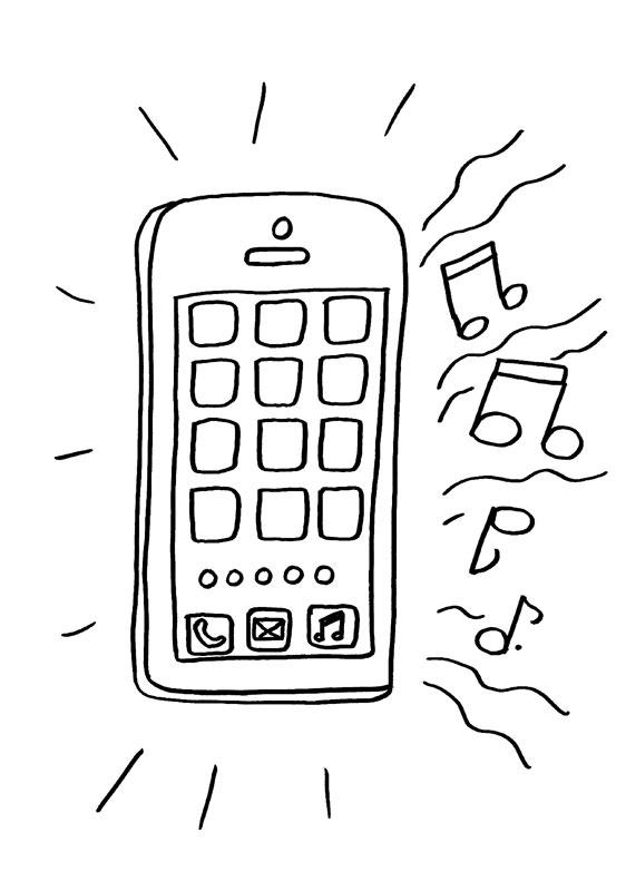 Teléfono Sonando: Dibujo Para Colorear E Imprimir destiné Coloriage Iphone 11
